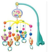 hot  sale best quality rattle  baby toy angel shape musical recreation ground baby mobile bed bell with 12 music