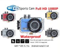 New 2014 Full HD 1080P Wifi Sports Action Helmet Camera Waterproof Car DVR F39 mini camcorders GoPro Video Recorder SJ4000 style