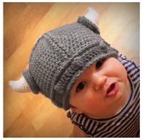 2014 new children's baby modeling baby cap handmade cap devil horns wool hat cap wholesale
