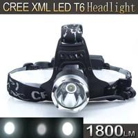 Super Light HeadLight CREE XM-L T6 LED 1800Lumen Headlight Bike Bicycle Light headlamp