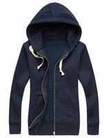 Wholesale Spring Autumn Womens Polo Hoodies American Style Girls Casual Jacket Tracksuit Sports Ladies Sweatshirt Coat Navy Blue
