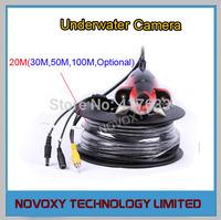Free Shipping IR Underwater Camera Fishing Gear w/ 20M Cable 2PCS IR LED Night Vision Waterproof Fishing Camera