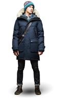 Men's YATESY Long Parka Down Jacket Puffer Down&Parkas Winter Jacket Men Coyote Wolf Fur Ruff Wool Shell Best Quality