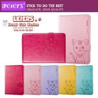 Leiers Domi Cat Leather Case Stand Flip Card Pocket Wallet Cover For Apple ipad mini Mini2 Mini 3