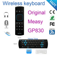Measy GP830 QWERY Keyboard Wireless Air Mouse Remote Control with Voice Function Support Somatosensory Game for Computer Gaming