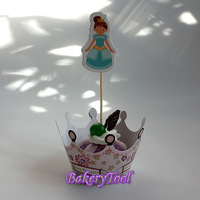 Fairy Princess Kitchen Accessories Cupcake Wrappers & Toppers Picks to Make Your Cupcake More Beautiful for Wedding Baby Shower