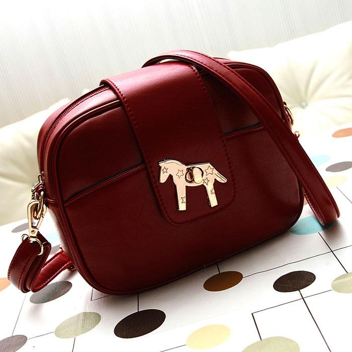 women's handbag bag female winter newarrive 2014 autumn vintage small bag one shoulder cross-body women leather handbag wine red(China (Mainland))