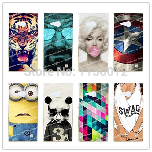 16 Patterns Hot Selling Hard Plastic Fashion Case For Nokia 730 735 For Nokia Lumia 730 735 Case Cover+Stylus Gift(China (Mainland))