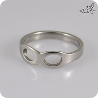 10x Symbol Infinity Stainless Steel Finger Ring Women Promise Engagement Wedding Band Rings  Fashion Jewelry Wholesale