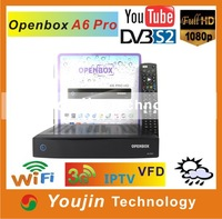 DVB-S2 STB OPENBOX A6 PRO Cardsharing+FTA FULL HD 1080P internet youtube Support 3G and IPTV