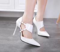 women pumps 2015 10cm ultra high heels ol pointed toe thin heels pumps women fashion sexy  pumps for women 401