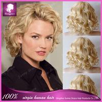 Fashion Unprocessed Virgin Brazilian Human Hair Bob Wig Glueless Full Lace Wigs For Black Women With Baby Hair