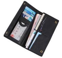 Classic Black Hasp wallet 100% Real Head layer cowhide Long Large Capacity Wallet. Men's Vintage Wallets
