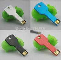 Metal Key USB Flash Drive 16GB u disk Gift Memory Stick Disk Thumb drive Pen drives Pendrive