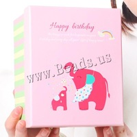 Free shipping!!!Cardboard gift box,Jewellery, Rectangle, cartoon pattern, 160x130x105mm, 10PCs/Lot, Sold By Lot