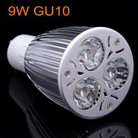 1 X Led GU10 3*3W AC85~265V Cool/Warm White LED Downlight LED Bulb Light Led Spotlight Free Shipping