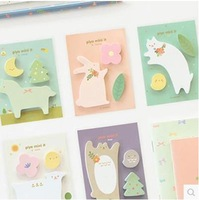 cute office cartoon sticky notes creative stationery post-it notepad filofax memo pads office supplies school 1pcs/lot