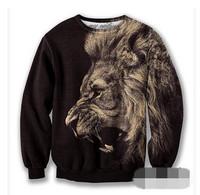 Harajuku iswag sweatshirts women fashion cute animals lion 3D hoodies pullovers winter sweatshirt for couple hoodie Nora05570