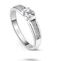 Unisex CZ Rings for Men/women Engagement Jewelry,Fashion White Stone Crystal Anillos for Best Friends Gift Joyeria de Moda J292P