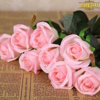 Decorative Flowers Artificial Silk Flowers Craft Christmas Single Rose Party Decor Wedding  artificial  flores rosa bouquet