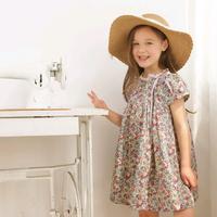 new summer children girls short sleeve floral dresses kids fashion flower lace princess dress