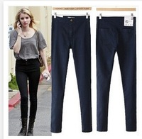 Autumn and winter plus velvet vintage aa high waist jeans slim skinny jeans pencil all-match basic trousers