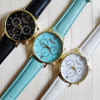 Free Shipping GENEVN Silicone Watch Fashion Student Watch Three Eye Quartz