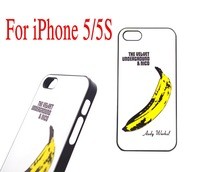 1 Piece Free Shipping Popular Art Banana Case For Apple iPhone 5 Case for iPhone 5S Case Hard Shell Plastic Painted Back Cover