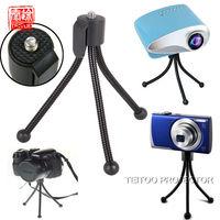 New Black Mini Flexible Octopus Tripod Table Lightweight Stand Mount Holder for Mini Projector Digital Camera DV CCTV Camera