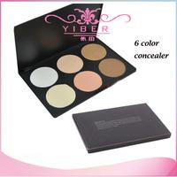 New Professional 6 color makeup powder 6 color palette Makeup Cosmetic Contour Shading 6 Color Concealer Palette Powder