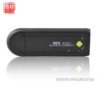 Android MINI PC TV Stick, Smart TV, Support WIFI, Wireless, Bluetooth, Rockchip RK3066, RAM 1GB DDR3 + ROM 8GB, MK809 II