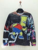 The Simpsons Bart Simpson With Skate Galaxy Crewneck Men's 3D Hoodies Sweatshirts