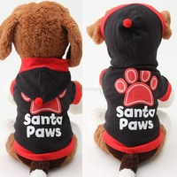 Lovely Paws Printed Cotton Hoodie Sweatshirt Cozy Puppy Pet Dog Cat Clothes  Free Shipping