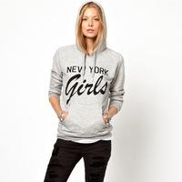 New Fashion 2015 Letter Printed Casual Sweatshirt Women Hoodies Cotton T Shirt Sport Suit Women Clothing Tracksuits Plus Size