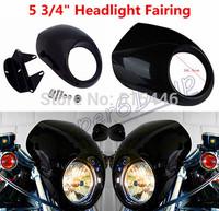 Headlight Fairing Mask For Harley Sportster Front Cowl XL 1200 883 Low Visor Flyscreen Visor Drag Dyna V-Rod FX