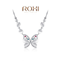 ROXI fashion jewelry 18k gold ladies butterfly model pendant crystal personalized necklaces for women girl friend gift