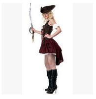 Shall serve CostumeSwashbuckler Sexy Pirate Halloween costumes princess dress new female love