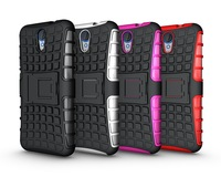 Mix Color TPU&PC Heavy Duty armor stand case for HTC Desire 620 Free Shipping 1pcs