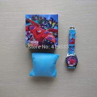 Free Shipping 1 pcs/lot Big hero 6 baymax Watch, Children Watch with box,birthday gift for children hb-001