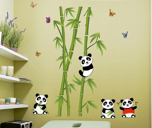 Online kopen wholesale panda muur decor uit china panda muur decor groothandel - Muur decoratie volwassen kamer ...