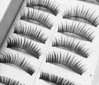 10 Pairs Taiwan False Eyelashes Hand Made Natural Long Thick Voluminous Faux Eye Lashes Maquiagem Professional Make Up Tools