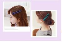 Fixed broken hair clip side clip bangs clip hair accessories hairpin children Scholars rectangular two -color random