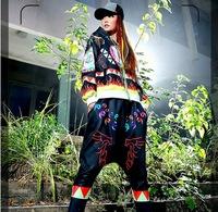 2015 Winter Hip-Hop women 2 piece set emoji joggers casual sports suit female ropa deporte mujer