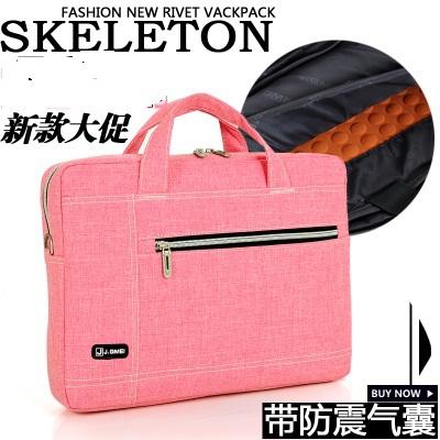 Portable shoulder computer bag lady 13 inch 14 inch thin laptop bag man(China (Mainland))