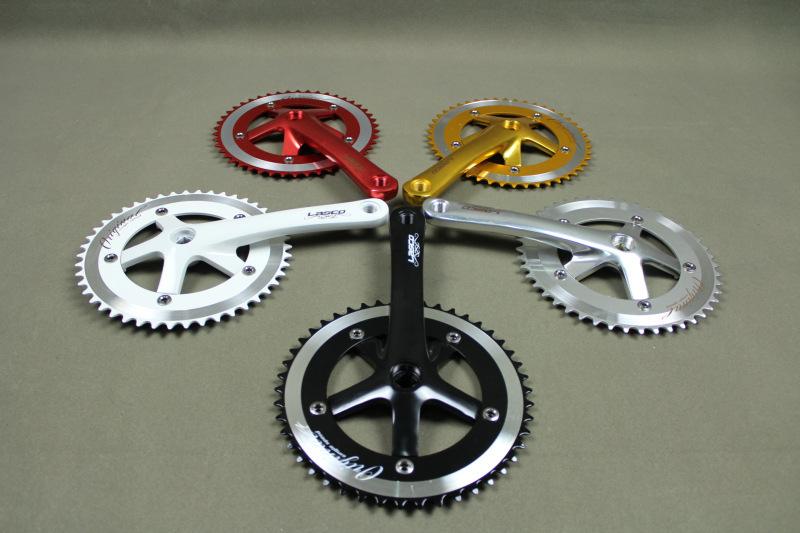 Fixed gear bike crankset Lasco site Taiwan LASCO car parts fluted disc 170X46T48T(China (Mainland))