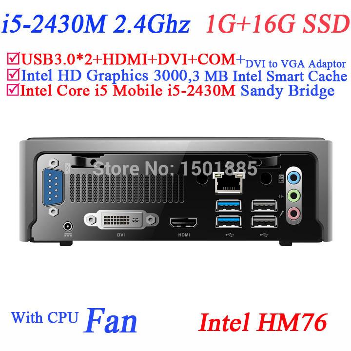 OEM mini pc windows xp mini computer with Intel Core i5 2430M 2.4Ghz 1G RAM 16G SSD(China (Mainland))