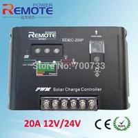 20A 12V/24V Solar Charge Controller Light and Timer Load Control High efficient Series PWM charging LED display Solar Regulator