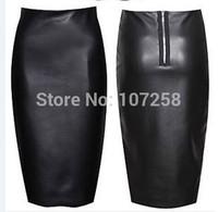 PU faux leather women new 2014 elastic high waist office party wear vintage bodycon pencil skirt saias femininas 6XL  Plus Size