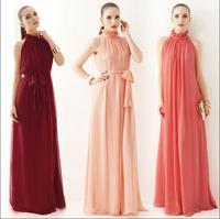 2015 summer women chiffon long dress fashion European casual bandage dresses Free Shipping