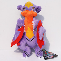 1PCS 22cm Pokemon Plush Toys Garchomp Cute Soft Stuffed Animals Toy Figure Collectible Doll Christmas Gift Free shipping